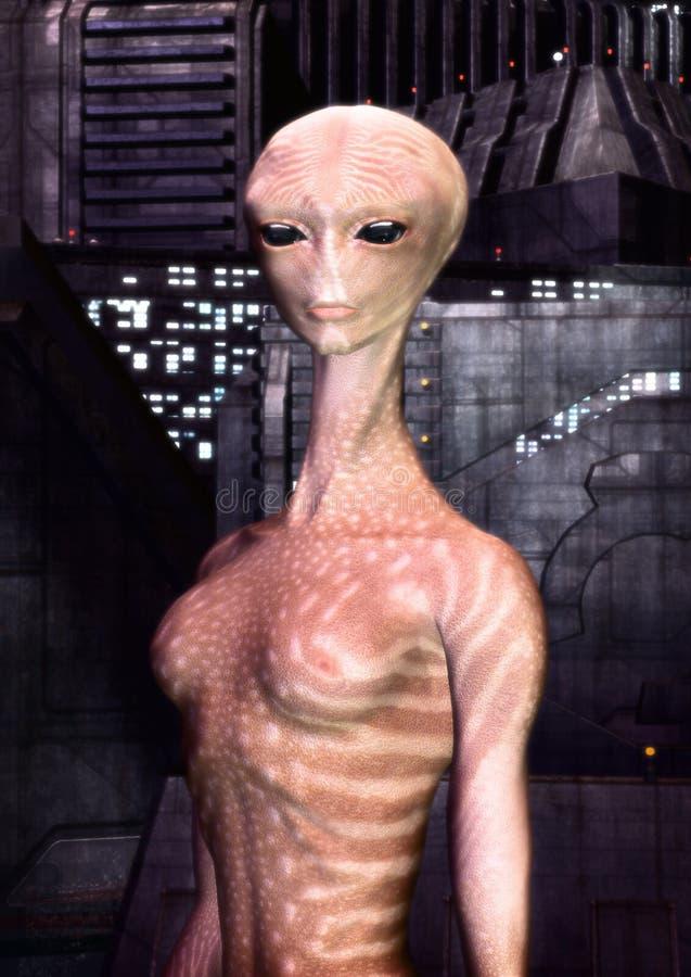 alien девушка иллюстрация вектора