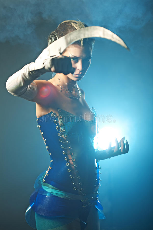 alien женщина красотки стоковое изображение rf