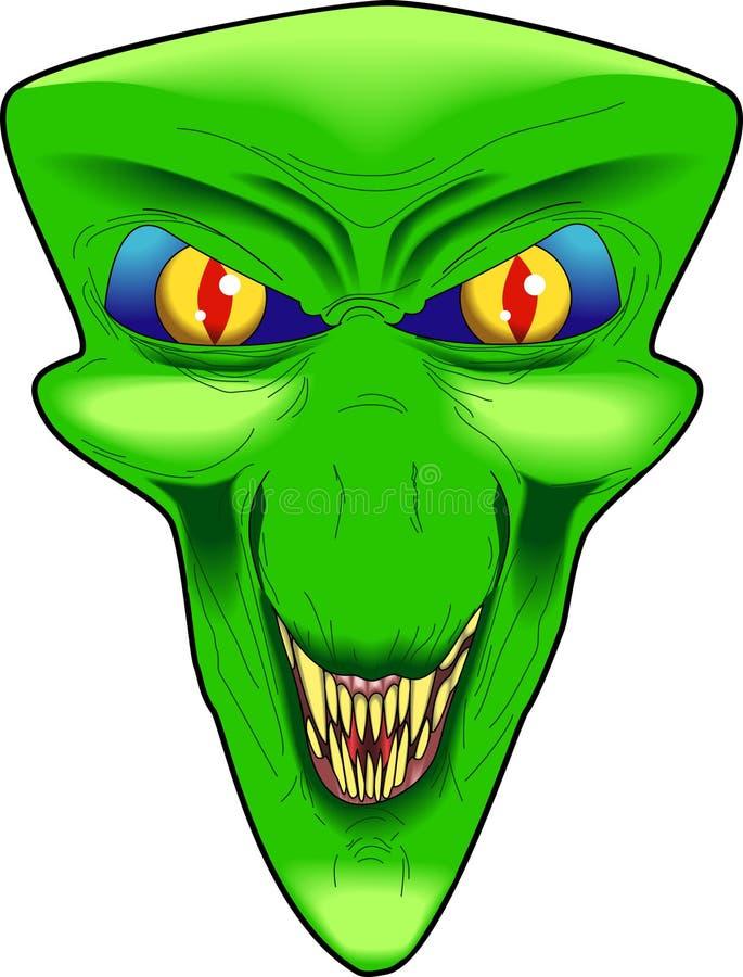 alien зло иллюстрация вектора