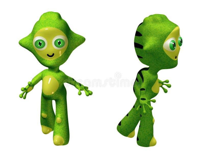 alien игрушка характера 3d иллюстрация вектора