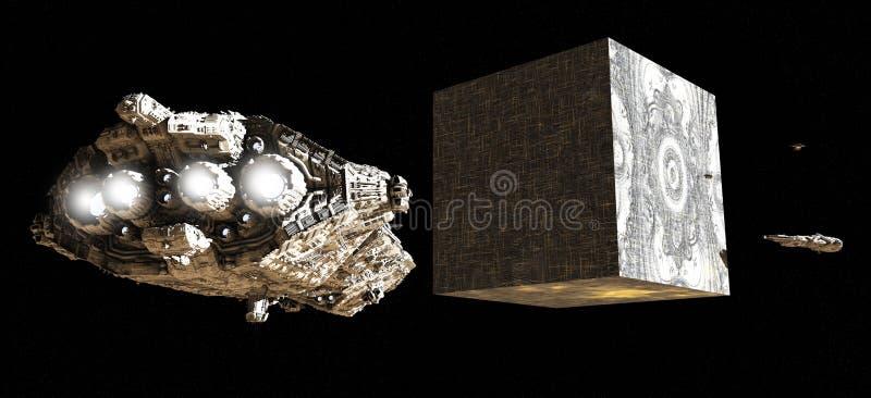 alien космос артефакта иллюстрация вектора