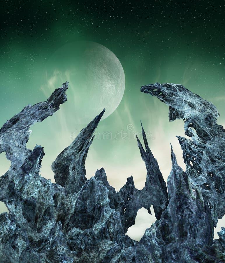 alien мир иллюстрация вектора