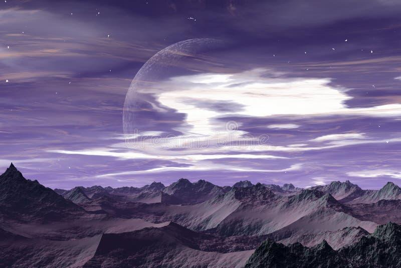 alien мир apeiros иллюстрация вектора