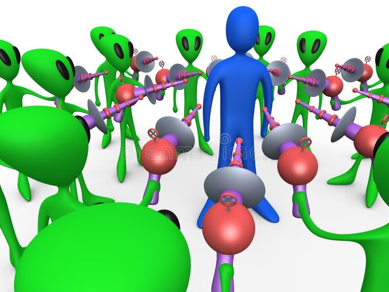 alien нашествие иллюстрация вектора