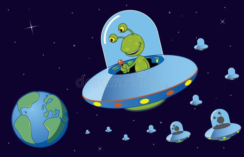alien нашествие иллюстрация штока