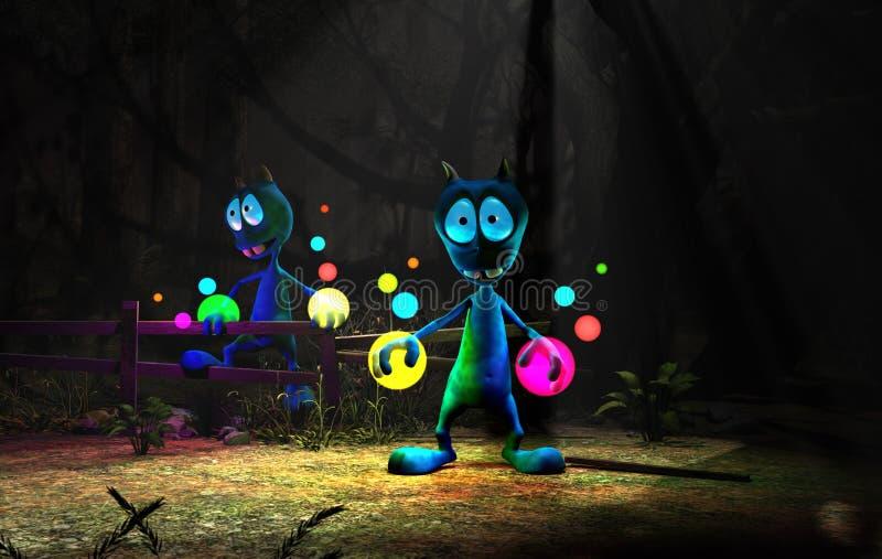 alien персонаж из мультфильма волшебный иллюстрация вектора