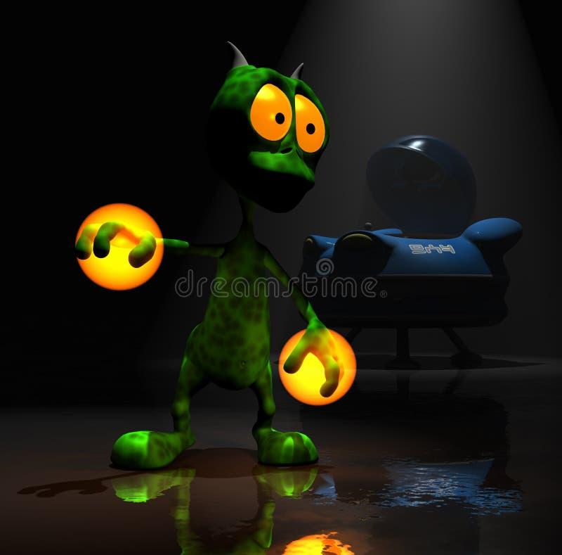 alien персонаж из мультфильма немногая волшебное иллюстрация штока