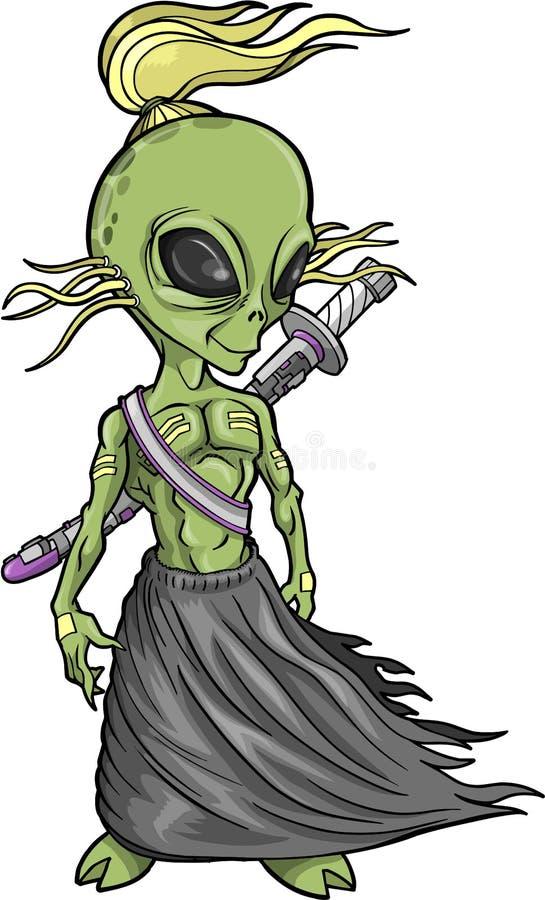 alien ратник вектора иллюстрация вектора