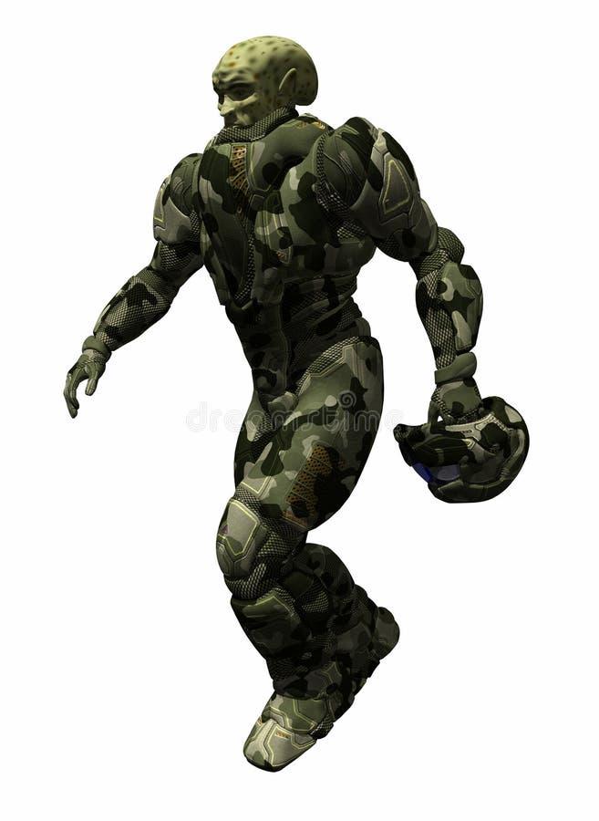alien ратник иллюстрация штока
