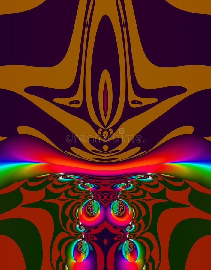 alien фракталь искусства иллюстрация штока