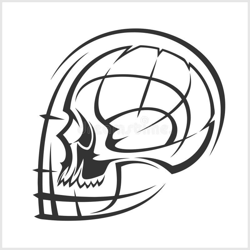 alien череп Компьютер вируса демон фантом _ хищник иллюстрация вектора