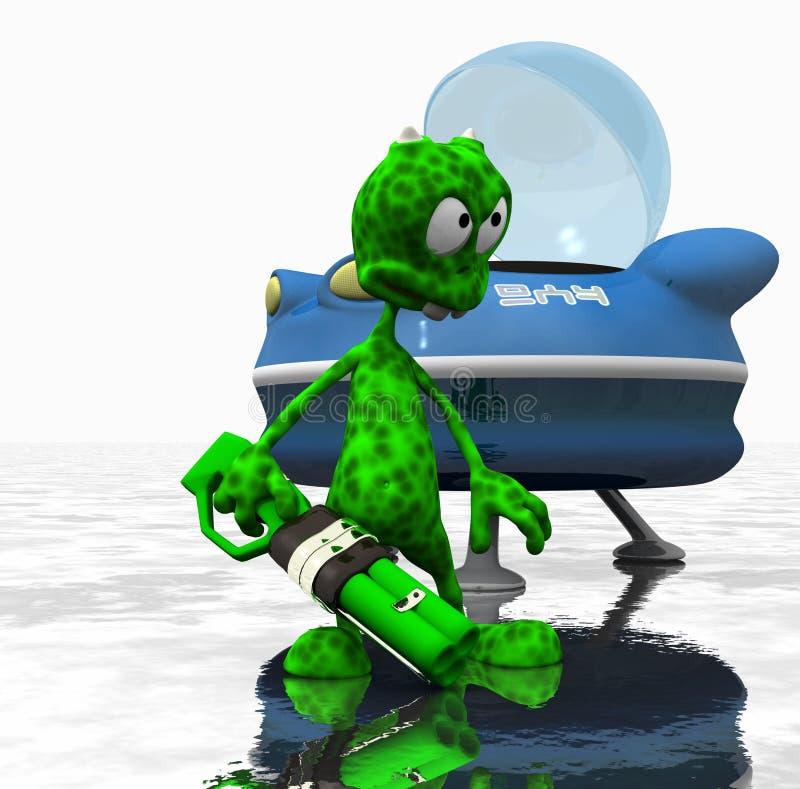 alien шарж бесплатная иллюстрация