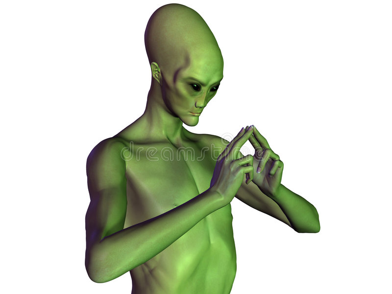 Alien #6 stock image