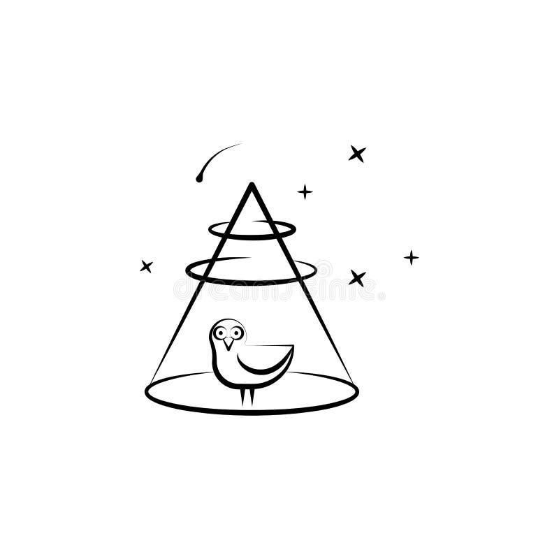 Alien, abandon, bird icon. Element of hand draw ufo icon stock illustration