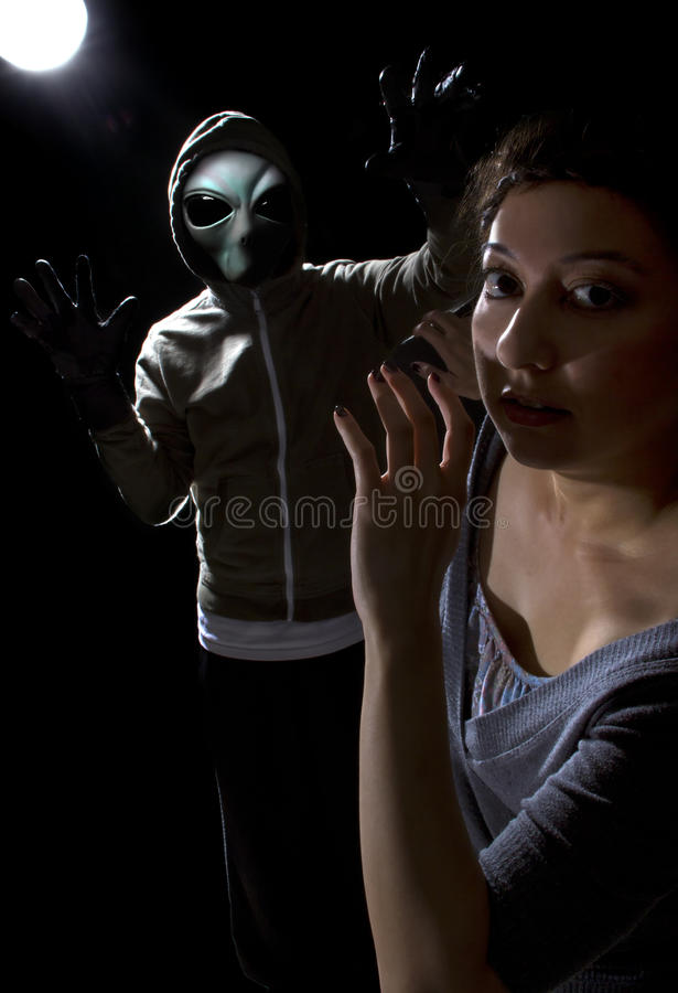 Alien Abduction stock photos