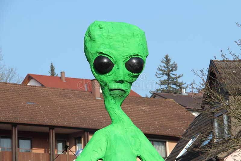 Alien. / s - green men arrived on our planet Earth stock image