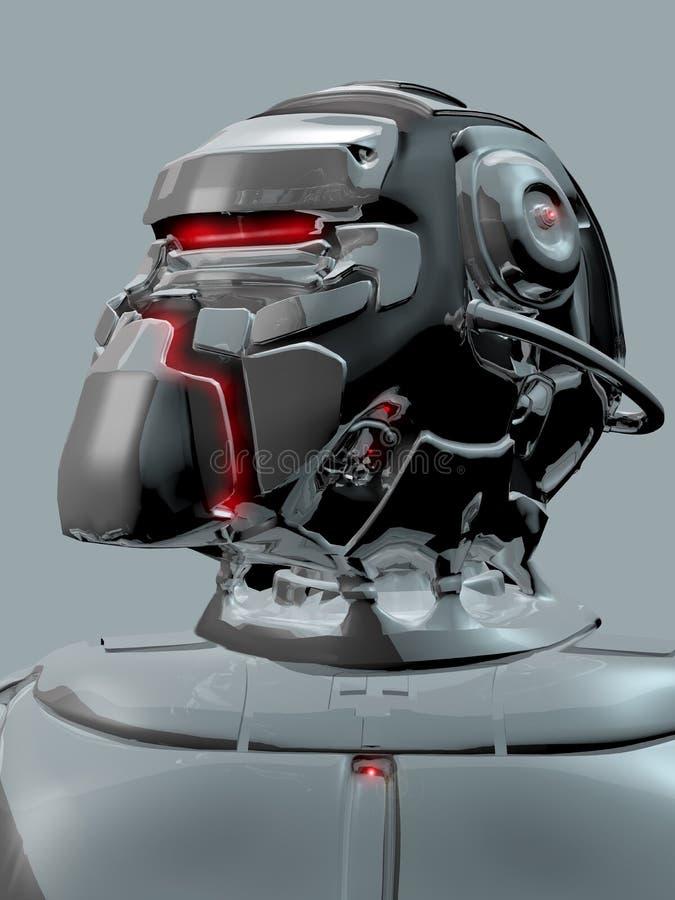 Alien, androide ou capacete humano? ilustração royalty free
