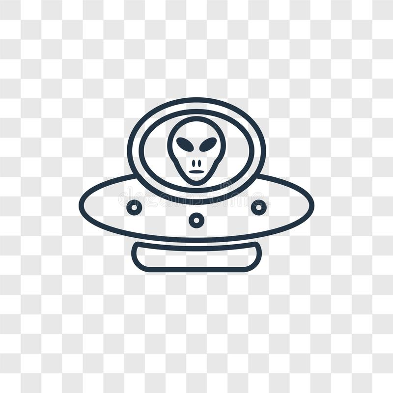 Alien with Aqualung concept vector linear icon isolated on trans royalty free illustration