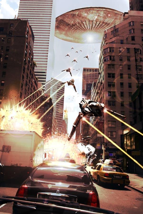 Alien attack vector illustration
