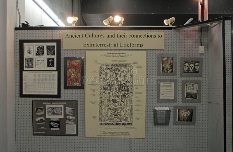 Alien autopsy museum display stock image