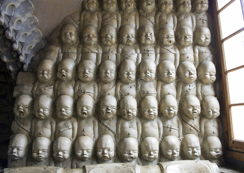 Alien babies in the H.R. Giger Bar royalty free stock photo
