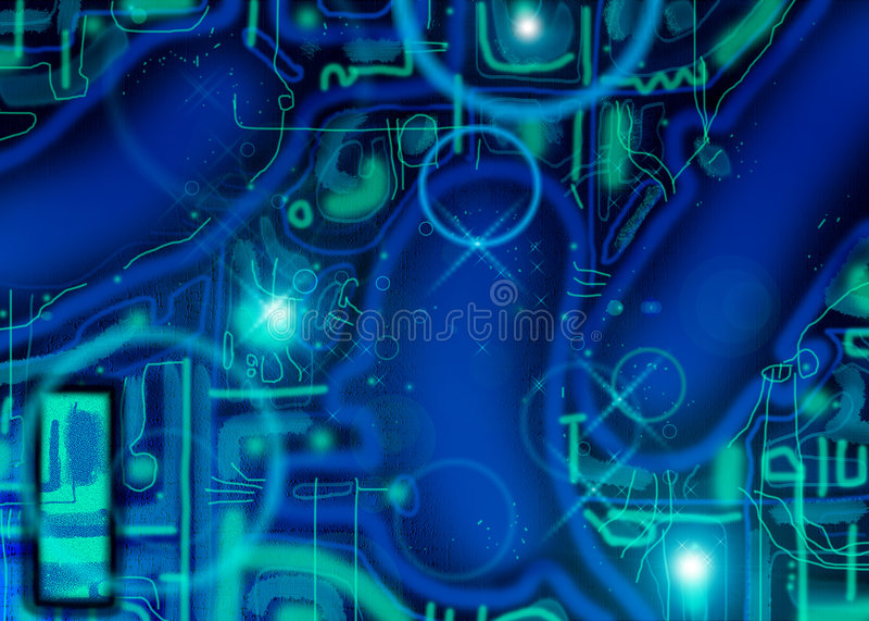 Alien background stock illustration