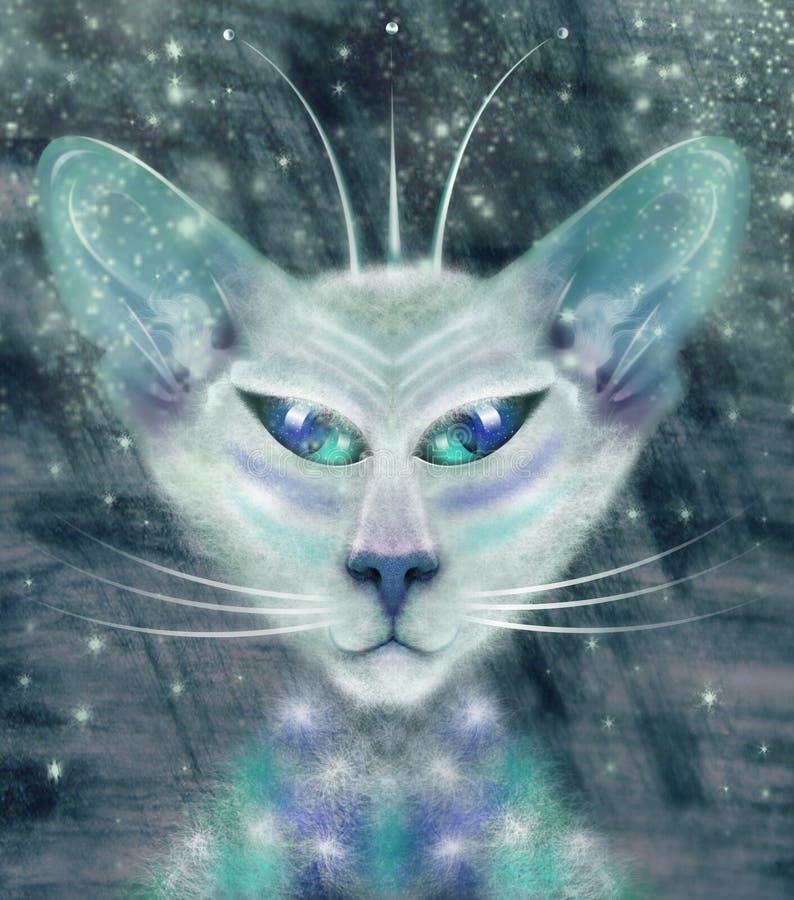 Alien cat royalty free stock photos