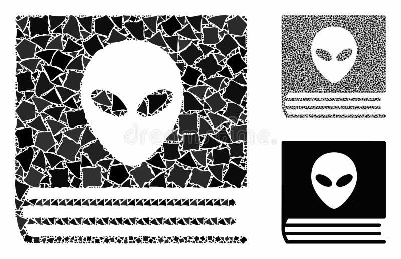 Alien catalog Mosaic Icon of Abrupt Pieces royaltyfri illustrationer