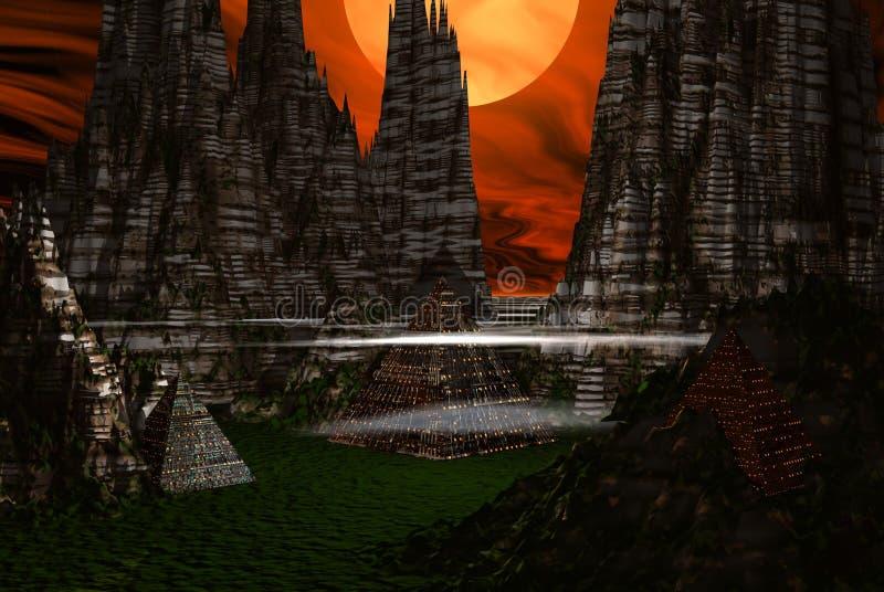 Alien city royalty free illustration