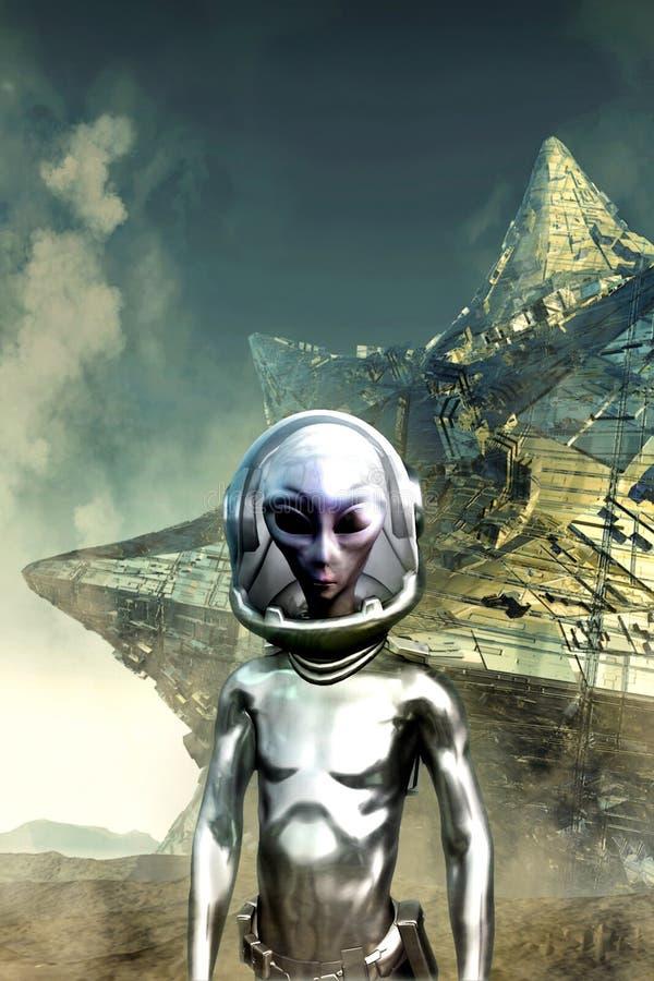 Alien colony vector illustration