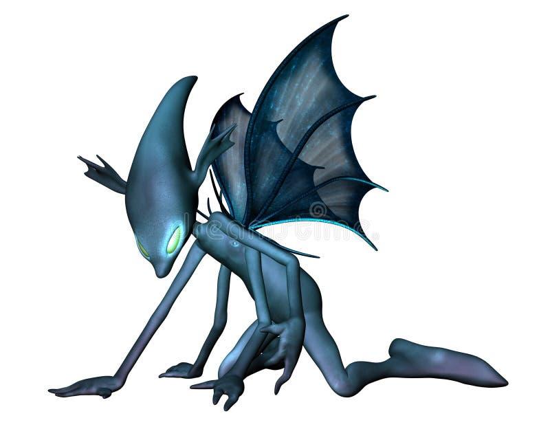 alien crawly страшное иллюстрация вектора