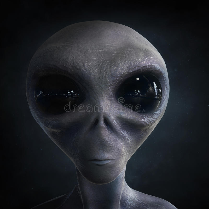 Alien. 3d computer generated; quality render royalty free stock image