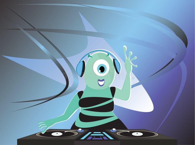 Download Alien DJ stock vector. Illustration of club, electronics - 25219577