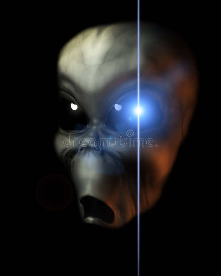 Download Alien Face 40 stock illustration. Illustration of glowing - 2366717