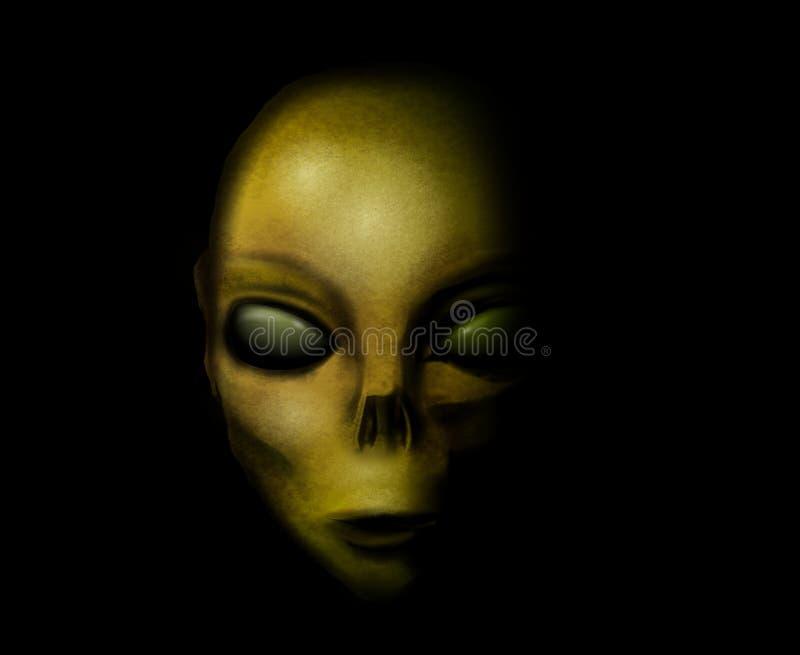Alien Face Head Portrait royalty free stock photos