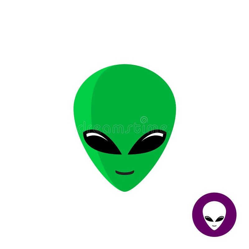 alien face logo planet ufo intruder stock vector illustration of rh dreamstime com Web Tech Logo That Has a Alien alien face apple logo