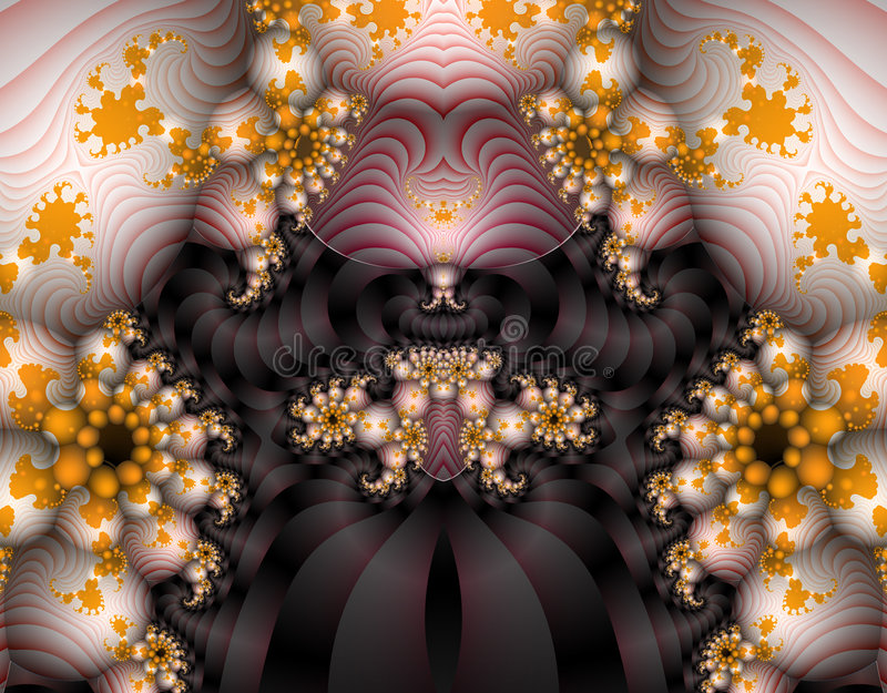 Alien Fractal Art royalty free illustration