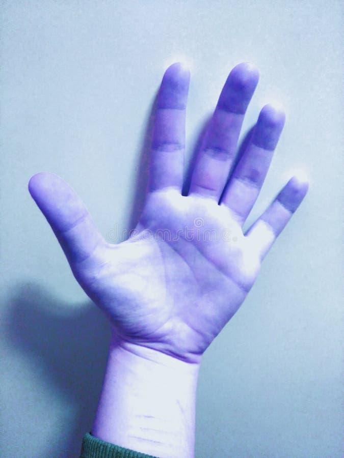 An alien hand stock photo