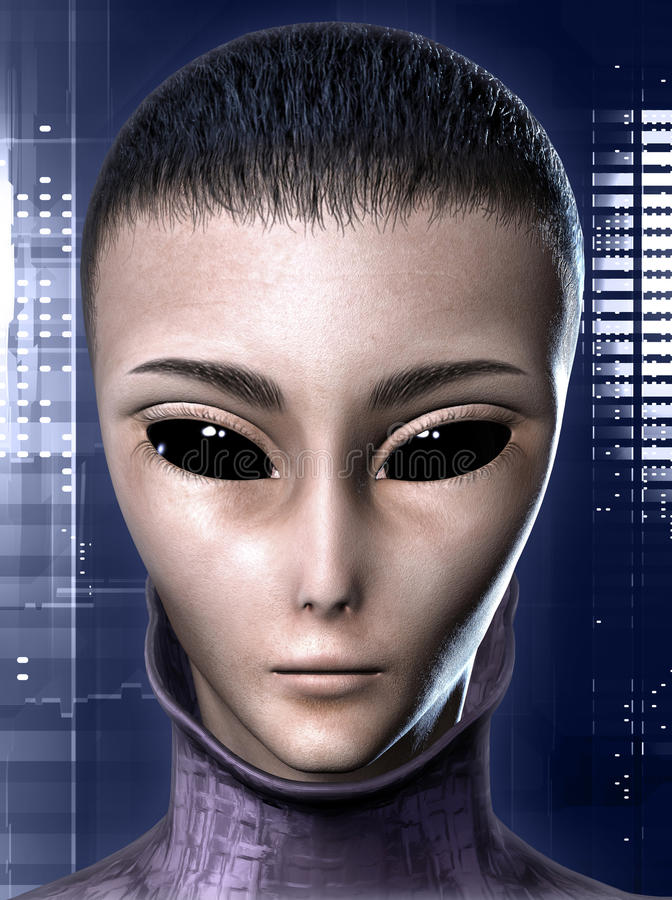 Alien human hybrid royalty free illustration