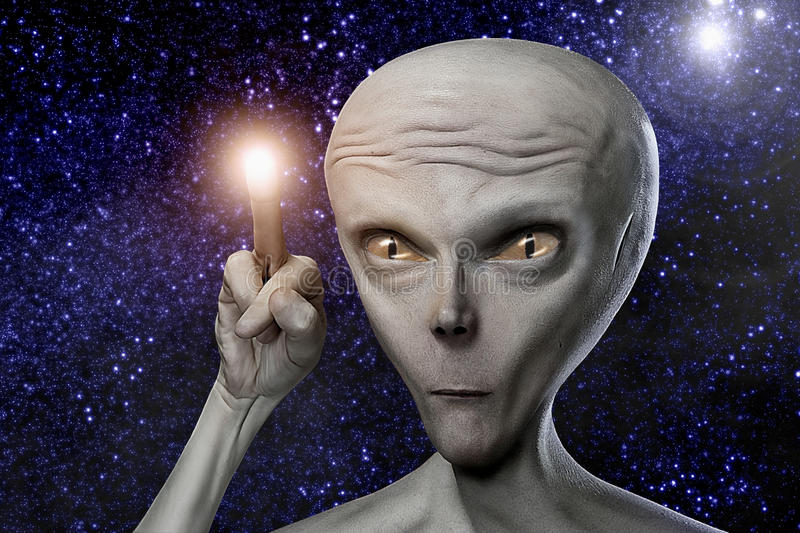 Alien royalty free stock photo