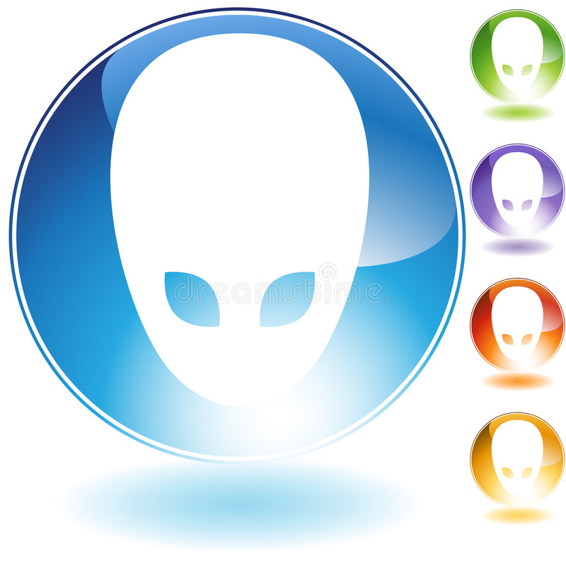 Free Alien Icon Royalty Free Stock Photography - 9275057