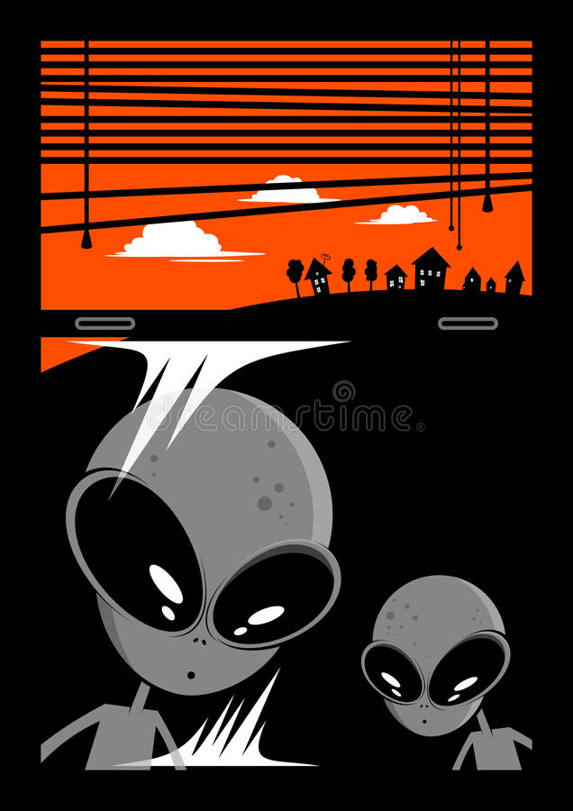 Alien invader background vector illustration