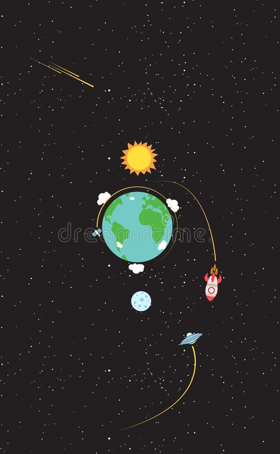 Earth On Universe stock illustration