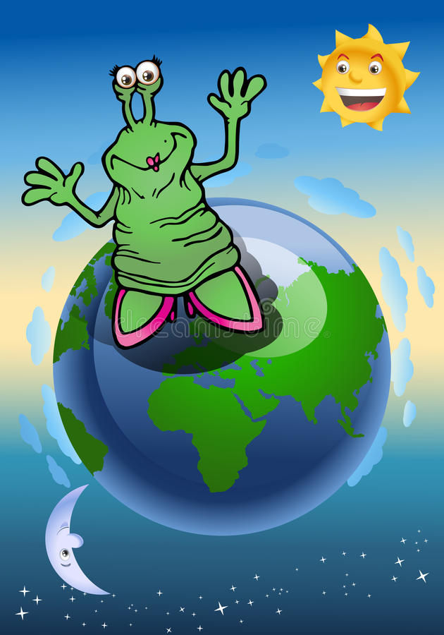 Download Alien lady expansion stock illustration. Image of astronomy - 25123391