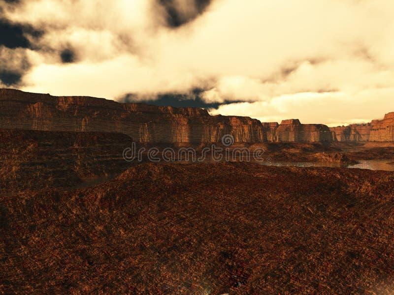 Download Alien landscape stock illustration. Illustration of backdrop - 2955102