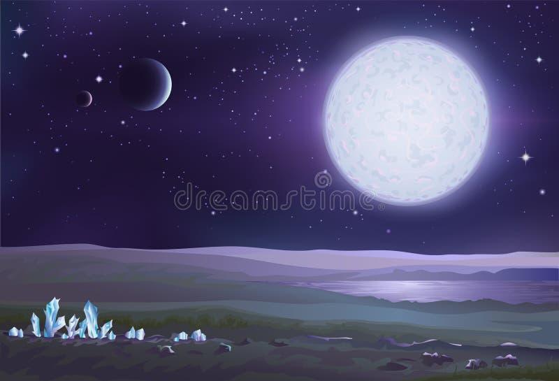 Download Alien landscape stock vector. Illustration of crystals - 4110301