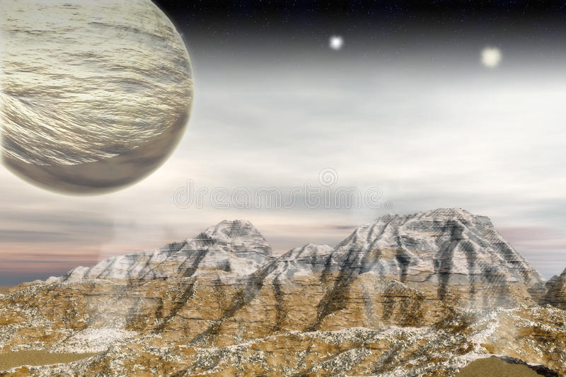 Alien Landscape vector illustration