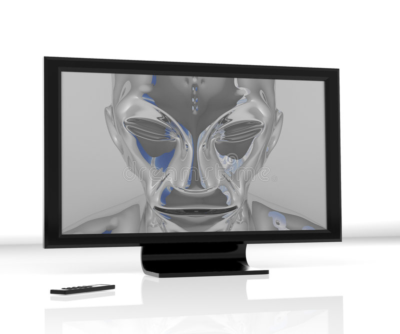 Download Alien_lcd stock illustration. Image of television, thin - 7502230