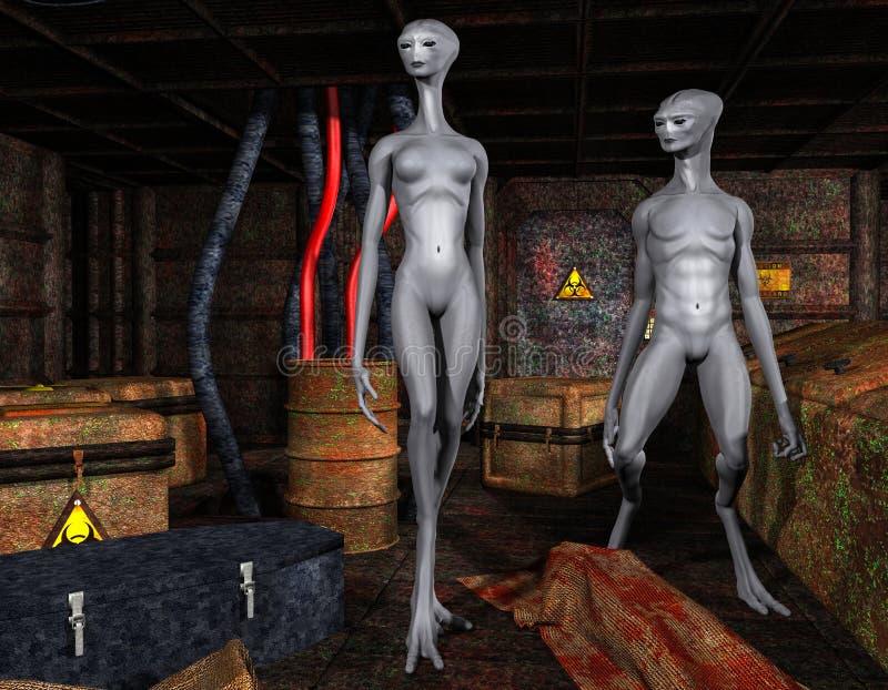Alien life forms stock illustration