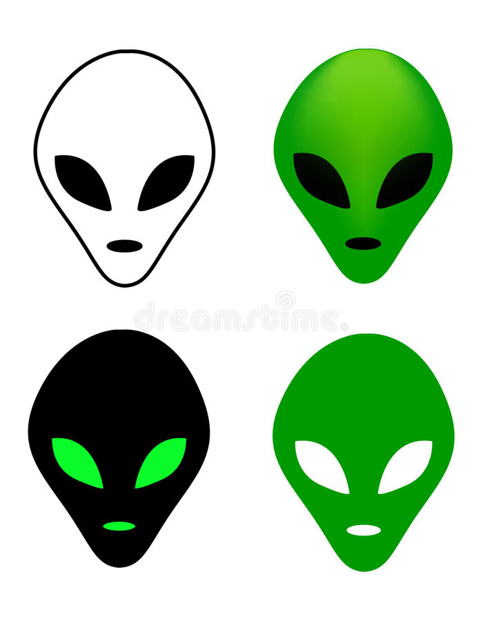 Alien mask stock illustration
